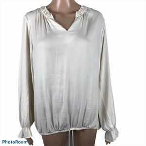 Dolan Left Coast Collection Ivory V-Neck Blouse
